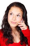 Young woman calling with phone Royalty Free Stock Images