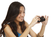 Young Woman with Camera Royalty Free Stock Image