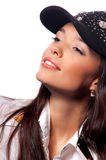 Young woman in a cap Stock Photo