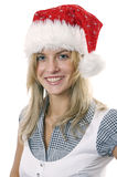 Young woman in cap Santa Royalty Free Stock Photo