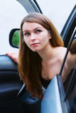 Young woman in the car. Royalty Free Stock Photo