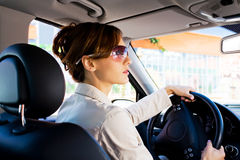 Young woman in the car 2 Stock Photo