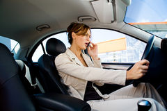 Young woman in the car 2 Royalty Free Stock Photo