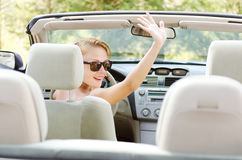 Young woman in car Stock Photos