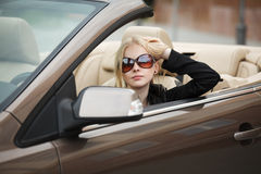 Young woman in a car Royalty Free Stock Photo