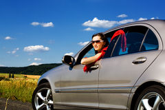 Young woman in the car 6 Royalty Free Stock Photos