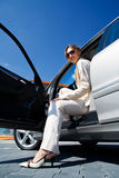 Young woman in the car 7 Stock Images