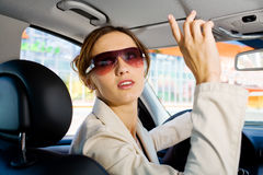 Young woman in the car Royalty Free Stock Photo