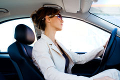 Young woman in the car Royalty Free Stock Photos