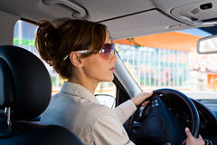 Young woman in the car Stock Photos
