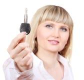 Young woman with car keys Stock Photos