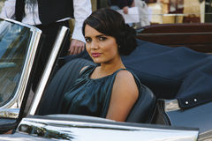Young woman in car Stock Photos