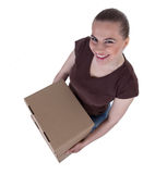 Young woman with cardboard boxes Stock Image
