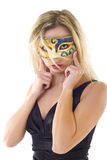 Young woman in carnival mask Stock Photos