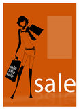 A young woman carrying shopping bags Stock Photography