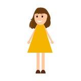 Young woman cartoon Stock Images