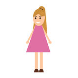 Young woman cartoon Royalty Free Stock Images
