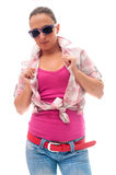 Young woman with casual clothes Royalty Free Stock Photo