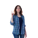 Young woman in casual clothes over white isolated background Royalty Free Stock Photography