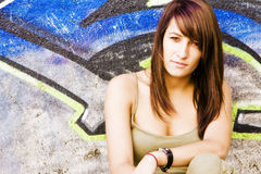 Young woman in casual clothing Royalty Free Stock Photography