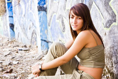 Young woman in casual clothing Stock Photography