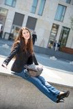 Young woman -  casual fashion outdoor portrait Stock Photos