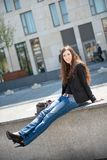 Young woman -  casual fashion outdoor portrait Royalty Free Stock Photo