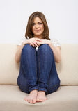 Young woman casual style Stock Photos
