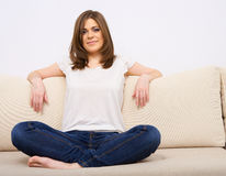 Young woman casual style Royalty Free Stock Photos