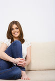 Young woman casual style Stock Images