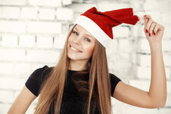 Young woman celebrating Christmas eve with present gifts Royalty Free Stock Photo