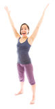 Young woman celebrating with her arms raised Stock Photography