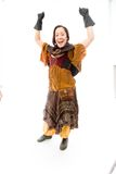 Young woman celebrating success Stock Photography