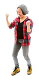 Young woman celebrating success Stock Images