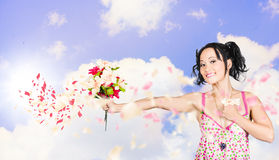 Young woman celebrating valentine's day love Stock Photography