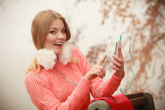 Young woman with cell phone. Stock Image