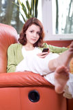 Young woman with cellphone 1 Stock Image