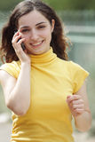Young woman on cellphone Stock Image