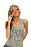 Young woman with cellphone Royalty Free Stock Image