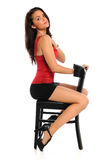 Young Woman on Chair Stock Photography