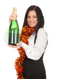 Young woman with champagne Stock Image