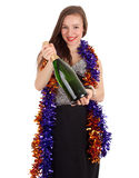 Young woman with champagne Royalty Free Stock Photo