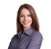 Young woman with a charming smile Stock Photo