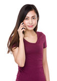 Young woman chat on mobile phone Stock Photography