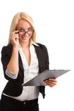 Young woman with checklist Stock Image