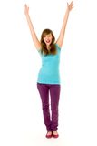 Young Woman Cheering Stock Image