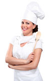 Young woman chef Stock Photos