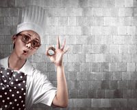Young Woman Chef Stock Photo