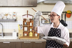 Young Woman Chef royalty free stock photography
