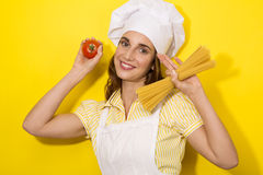 Young woman chef Stock Image